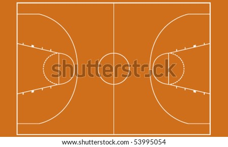 illustration of basketball field