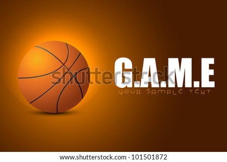 illustration of basketball on game background - stock vector