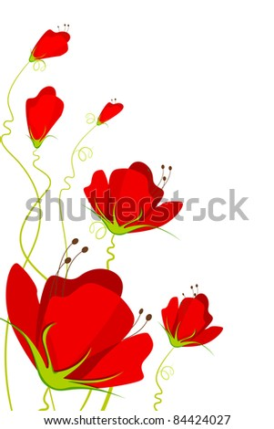 illustration of beautiful flower on abstract background - stock vector