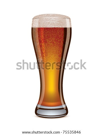 Illustration of beer glass. EPS 10 - stock vector