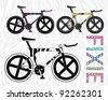 Illustration of bike - stock photo