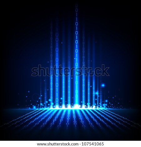 illustration of binary code on abstract technology background