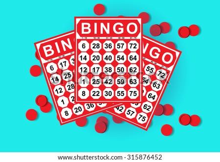 illustration of bingo card game - stock vector