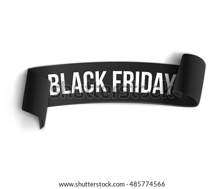 black realistic curved paper banner ribbon stock vector 511958437 shutterstock. Black Bedroom Furniture Sets. Home Design Ideas