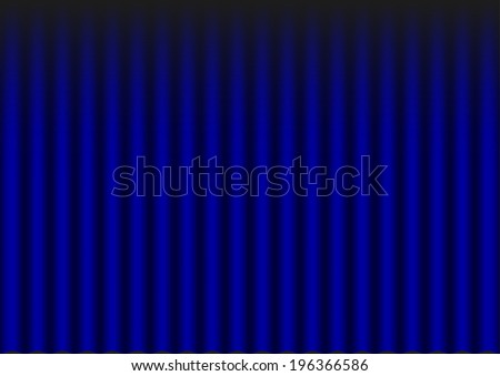 Illustration of blue velvet drapery (theater background)