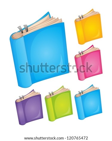 illustration of books on a white background - stock vector