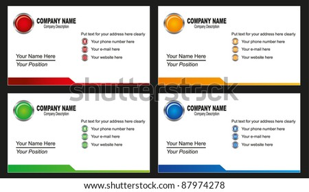 illustration of business card template - stock vector