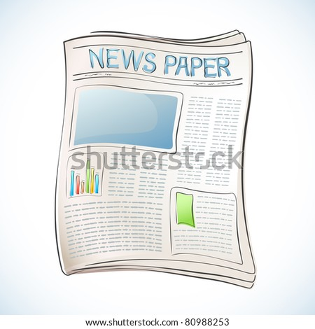 illustration of business newspaper on abstract background - stock vector