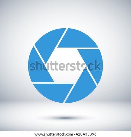 illustration of camera icon - stock vector