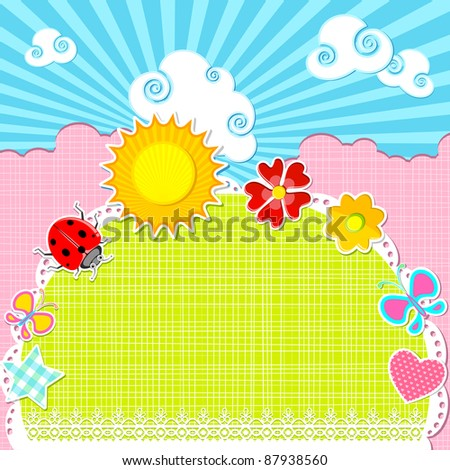 illustration of card with baby element for any occasion - stock vector
