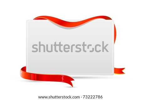 illustration of card wrapped with ribbon on isolated background - stock vector