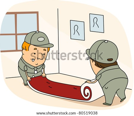 Carpet installation clipart