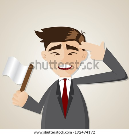 illustration of cartoon businessman commit suicide - stock vector