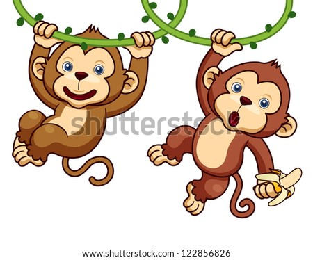 Cartoon Swinging Monkey Animals Images amp Pictures Becuo
