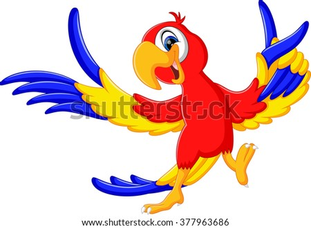 Cartoon parrot flying - photo#25