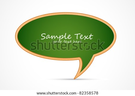 illustration of chat bubble shape chalk board - stock vector