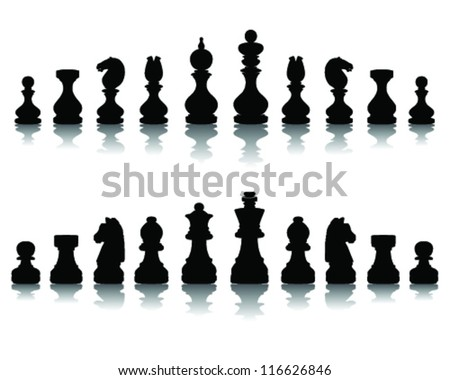 illustration of chess pieces 2, vector