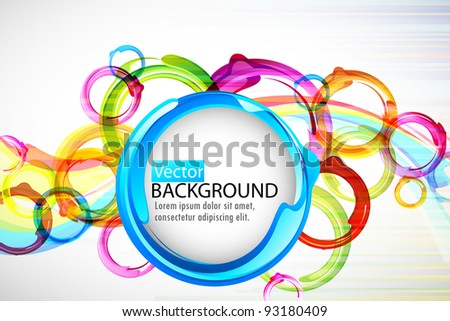 illustration of circular colorful shape on abstract vector background - stock vector
