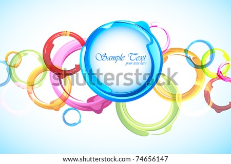 illustration of circular pattern on abstract background