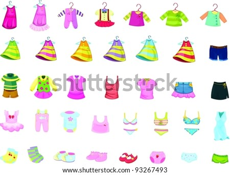 Illustration of clothes - stock vector