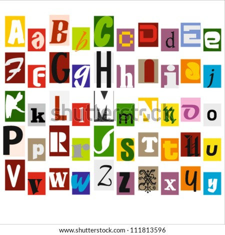 Illustration of Colorful Alphabet Letters