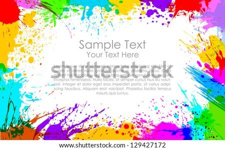 illustration of colorful grunge making frame - stock vector