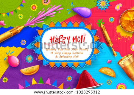 illustration of colorful Happy Holi Background for Festival of Colors celebration greetings