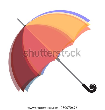 Illustration of colorful, iridescent and fun umbrella. Can be us