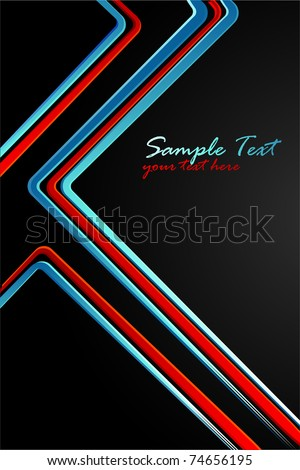illustration of colorful lines on abstract background - stock vector