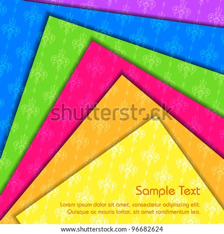 illustration of colorful paper abstract background - stock vector