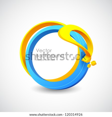 illustration of colorful web design bubble template - stock vector