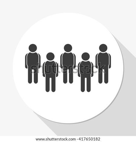 Illustration of crowd of people. - stock vector
