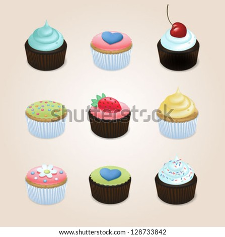 Illustration of Cupcakes