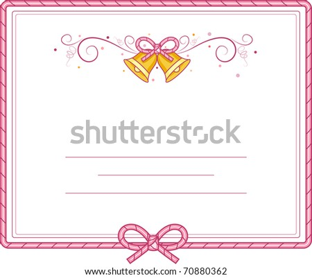 Illustration of Cute Bells for Background - stock vector