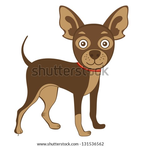 Illustration of  cute russian toy terrier