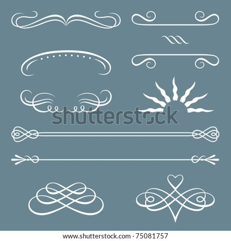 Illustration of decorative borders and ornaments. - stock vector