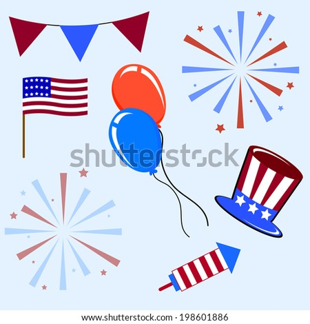 Illustration of design element for American Independence Day. Vector illustration. Abstract pattern.