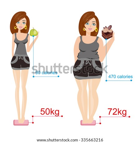illustration of different body types - stock vector