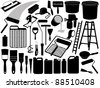Illustration of different painting objects - stock photo