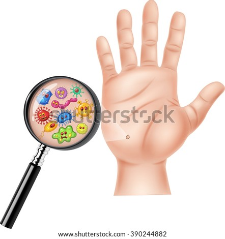 Illustration of Dirty hand - stock vector