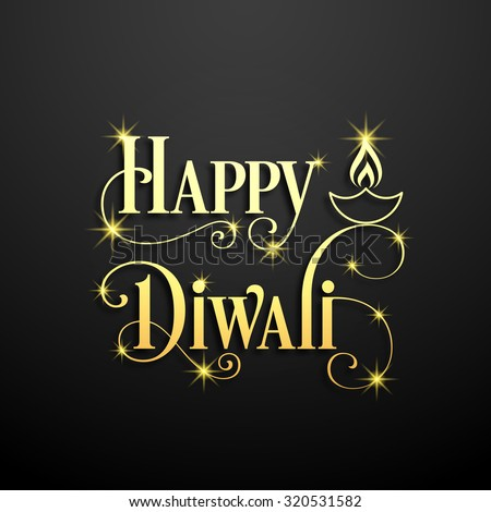 illustration of Diwali for the celebration of Hindu community festival. - stock vector
