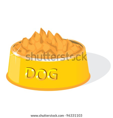 illustration of dog food on a white background. vector illustration. - stock vector