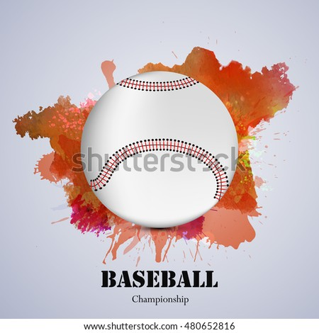 Illustration of elements for baseball sport background