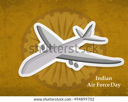 Illustration of elements for Indian Air Force Day