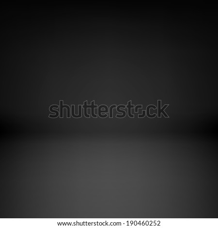 Illustration of empty dark room with dim light - stock vector