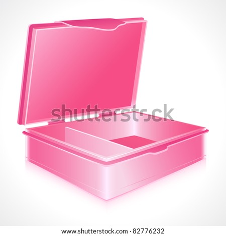 illustration of empty tiffin box on abstract white background - stock vector