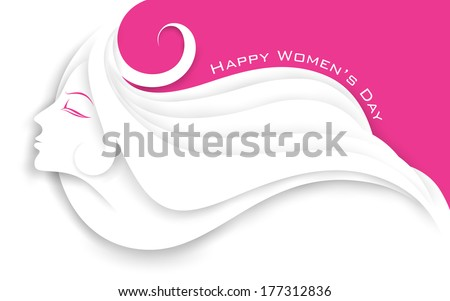 illustration of face of lady in Happy Women's Day concept  - stock vector