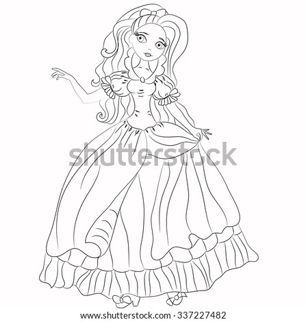 Illustration Fairytale Princess Princess Heroes Fairy Stock Vector
