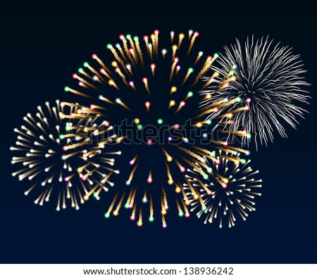 Illustration of firework, EPS 10, contains transparency. - stock vector