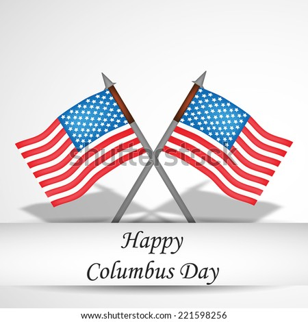 Illustration of Flags for Columbus Day - stock vector